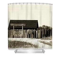 Fort Belmont Shower Curtain