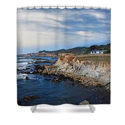 Fort Bragg Mendocino County California Shower Curtain