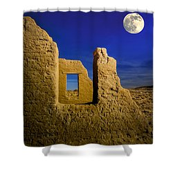 Fort Churchill Moonset Shower Curtain