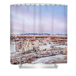 Fort Collins Aeiral Cityscape Shower Curtain