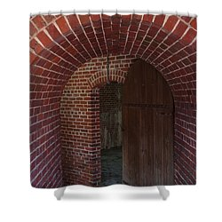 Shower Curtain featuring the photograph Fort East Martello by Greg Graham