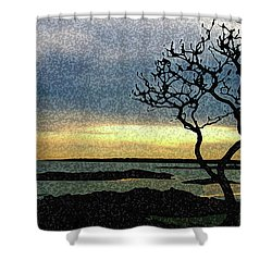 Fort Foster Tree Shower Curtain