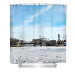 Fort Hancock - Officers Row Shower Curtain