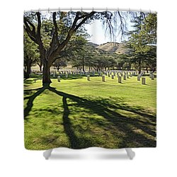 Shower Curtain featuring the photograph Fort Huachuca Post Cemetery by Gina Savage