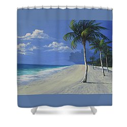 Fort Lauderdale Beach Shower Curtain by Anne Marie Brown