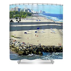 Fort Lauderdale Beach Park Shower Curtain by Kirsten Giving