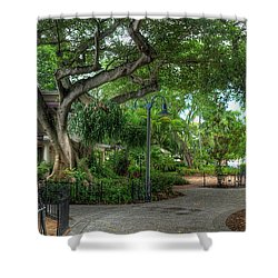 Fort Lauderdale Riverwalk Scenic Shower Curtain