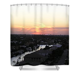 Fort Lauderdale Sunset Shower Curtain