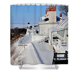 Fort Mackinac Profile Shower Curtain