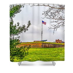 Shower Curtain featuring the photograph Fort Mchenry National Monument  by Nick Zelinsky