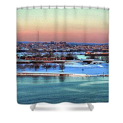 Fort Mchenry Shrouded In Snow Shower Curtain