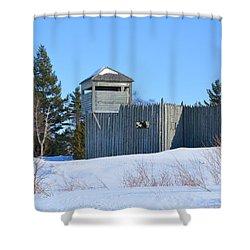 Fort Michilimackinac Northeast Blockhouse Shower Curtain