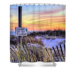 Shower Curtain featuring the photograph Fort Morgan Sunsets by JC Findley