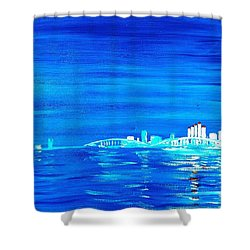 Fort Myers By Night Shower Curtain