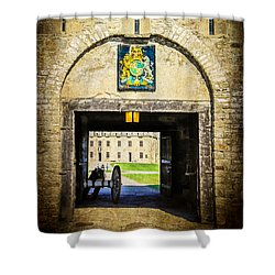Fort Niagara Entranceway Shower Curtain by Kathleen Scanlan
