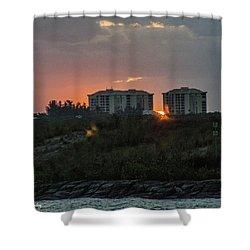 Fort Pierce Sunrise Shower Curtain by Nance Larson