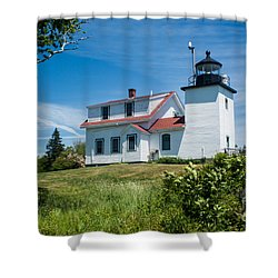 Fort Point Lighthouse  Stockton Springs Me 2  Shower Curtain
