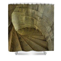 Fort Popham Stairwell Shower Curtain