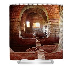 Fort Pulaski I Shower Curtain by Flavia Westerwelle