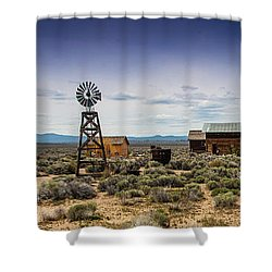 Fort Rock Museum Shower Curtain