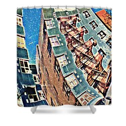 Fort Washington Avenue Building Shower Curtain