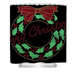 Fort Wayne Christmas Wreath Shower Curtain