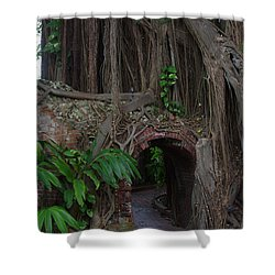 Shower Curtain featuring the photograph Fort West Martello by Greg Graham