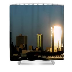 Fort Worth Gold Shower Curtain
