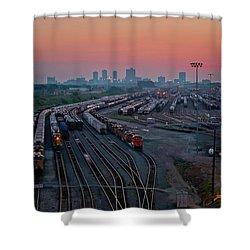 Fort Worth Trainyards Shower Curtain
