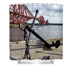 Shower Curtain featuring the photograph Forth Bridge by Jeremy Lavender Photography