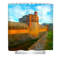 Fortress De Salses Shower Curtain by Gerhardt Isringhaus