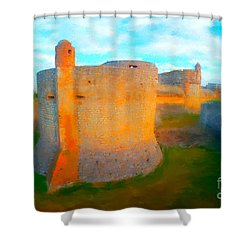 Fortress De Salses II Shower Curtain by Gerhardt Isringhaus