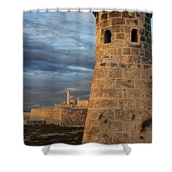 Shower Curtain featuring the photograph Fortress Havana by PJ Boylan