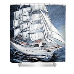 Fortunate. Sailing Ship Shower Curtain