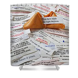 Fortune Cookie Sayings  Shower Curtain by Garry Gay