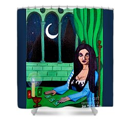 Shower Curtain featuring the painting Fortune Teller by Don Pedro De Gracia