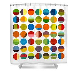 Forty Nine Circles Shower Curtain