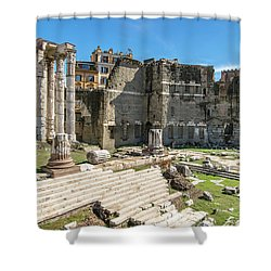 Shower Curtain featuring the photograph Forum Of Augustus by Scott Carruthers