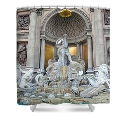 Forum Shops Statues At Ceasars Palace Shower Curtain