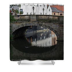 Foss Bridge - York Shower Curtain by Scott Lyons