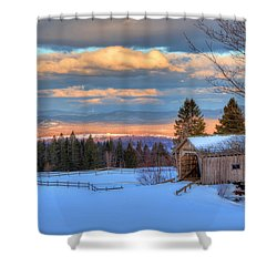 Shower Curtain featuring the photograph Foster Covered Bridge - Cabot, Vermont by Joann Vitali