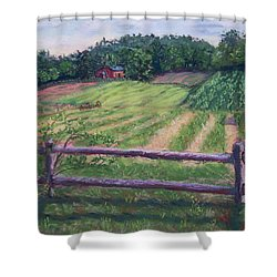 Fosterfields Farm Shower Curtain by Laurie Paci