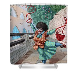 Fouette Shower Curtain