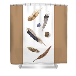 Found Treasures Shower Curtain by Lucy Arnold