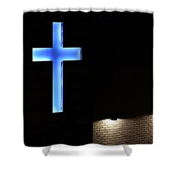 Shower Curtain featuring the photograph Foundry Cross by Jerry Sodorff