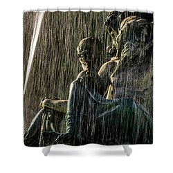 Fountain At Rossio Square Shower Curtain