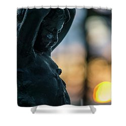 Shower Curtain featuring the photograph Fountain At Sunset Alameda Apodaca Cadiz Spain by Pablo Avanzini