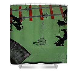 Fountain Shower Curtain by Flavia Westerwelle