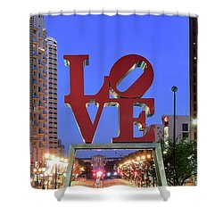 Shower Curtain featuring the photograph Fountain Of Love by Frozen in Time Fine Art Photography