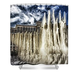 Fountain Of Love Shower Curtain by Michael Rogers